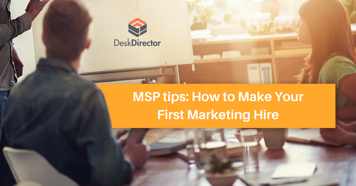 How to make your first marketing hire