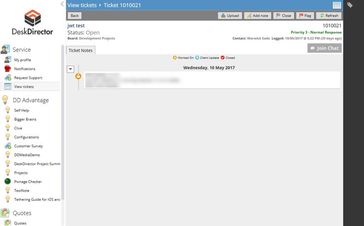 DeskDirector 15.6 version