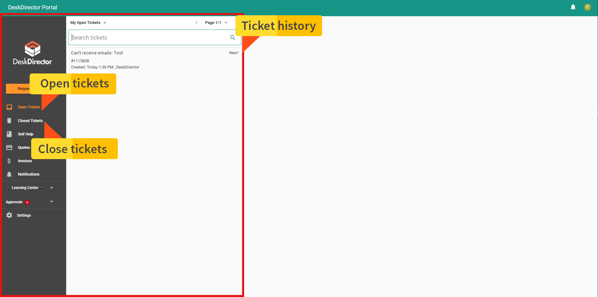 Ticket management - msp client portal
