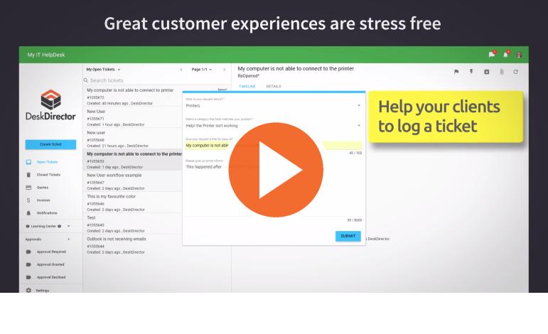 DeskDirector Customer Portal for MSP