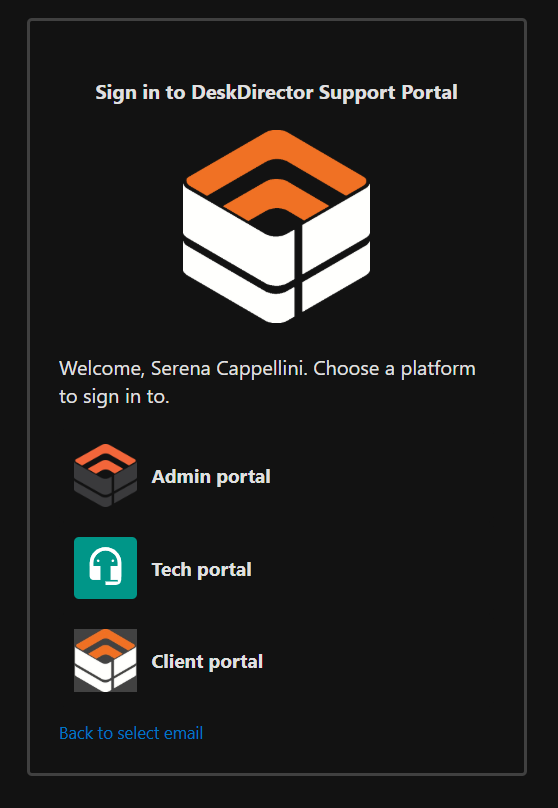 Single Sign-In Page