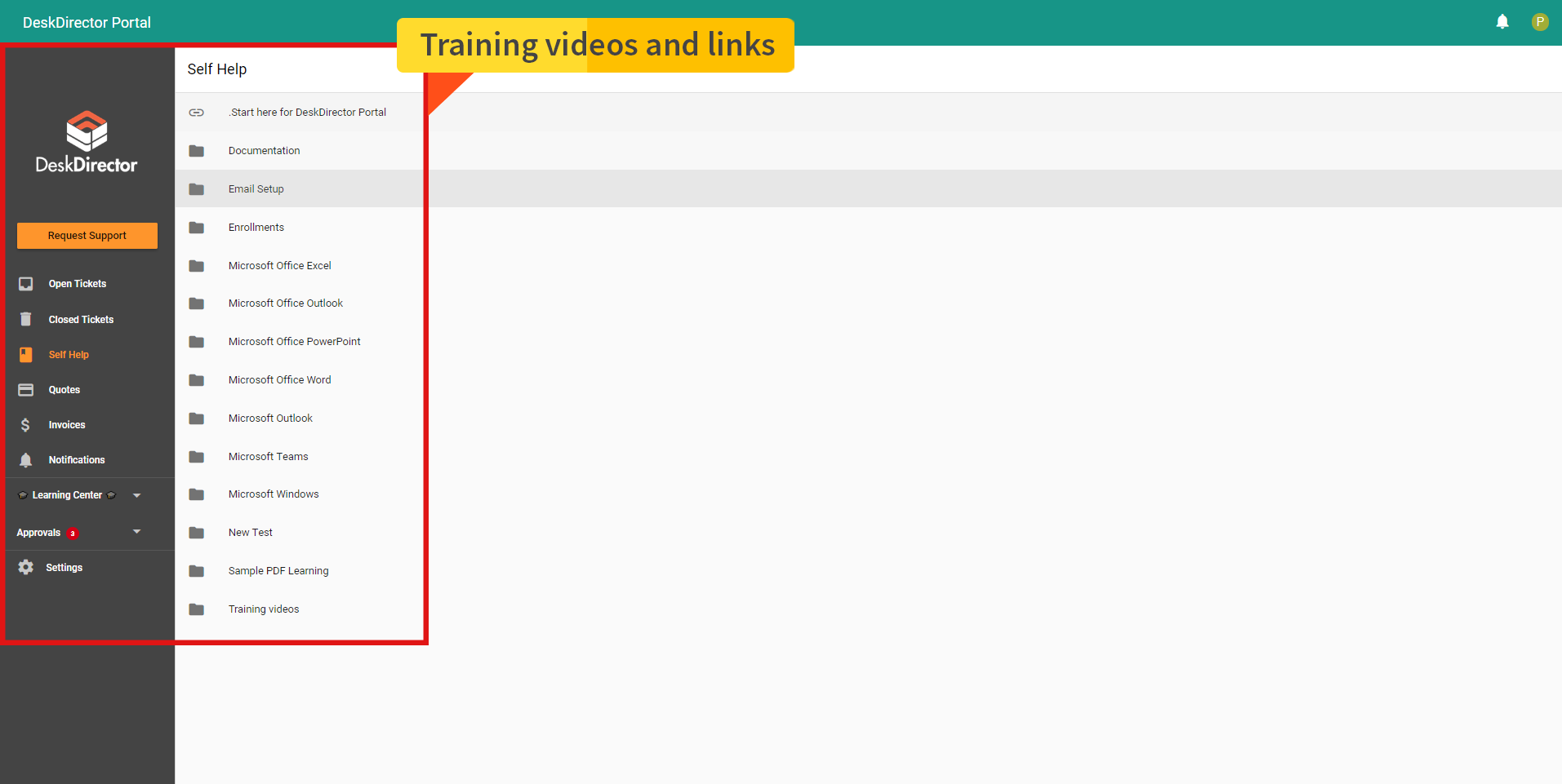training videos and links-1